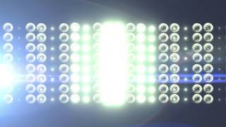 Big Horizontal Flashing Floodlights With Lens Flare 3 - free HD vfx footage