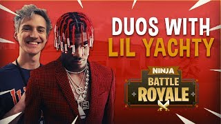 Ninja Plays Duos With Lil Yachty - Fortnite Battle Royale Gameplay
