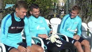 Видео дня на «Зенит-ТВ»: как команда встретила Кокорина и Жиркова