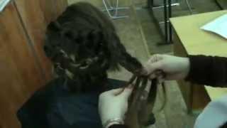 Зачіска на основі плетіння волосся