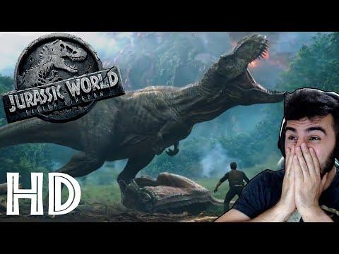 REACT (REAÇÃO) AO TRAILER JURASSIC WORLD 2: O Reino está Ameaçado / Reino Ameaçado HD (Legendado)