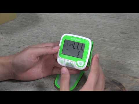 Wrist Blood Pressure Monitor with Heart Rate Detection and Memory Function