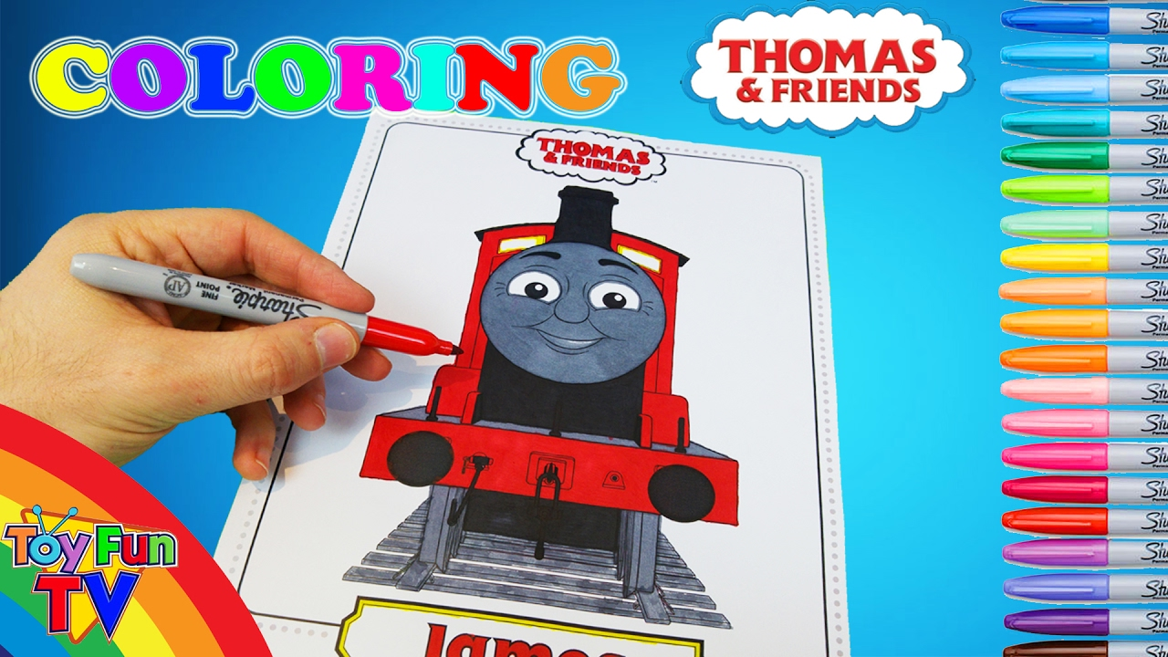 Thomas And Friends Coloring Book James The Tank Engine Colour Episode Toyfuntv