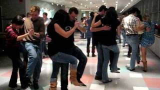 2009 Winter - Country Line Dancing Lesson: Barn Dance + Group