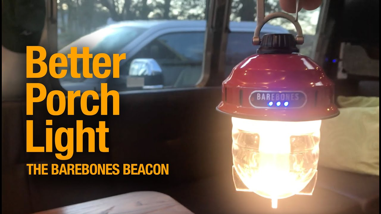 The best porch light for your camper or RV -- The Barebones Beacon -- LED, rechargeable, & compact!