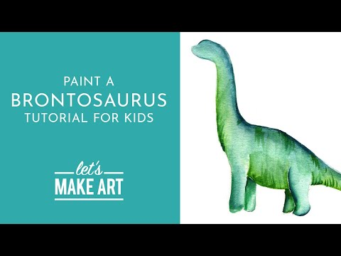Brontosaurus - Watercolor Tutorial for Kids with Sarah Cray thumbnail