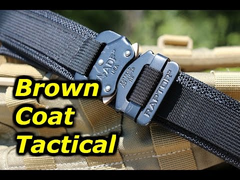 Brown Coat Tactical's EDC Belt: Exceptional Quality - YouTube