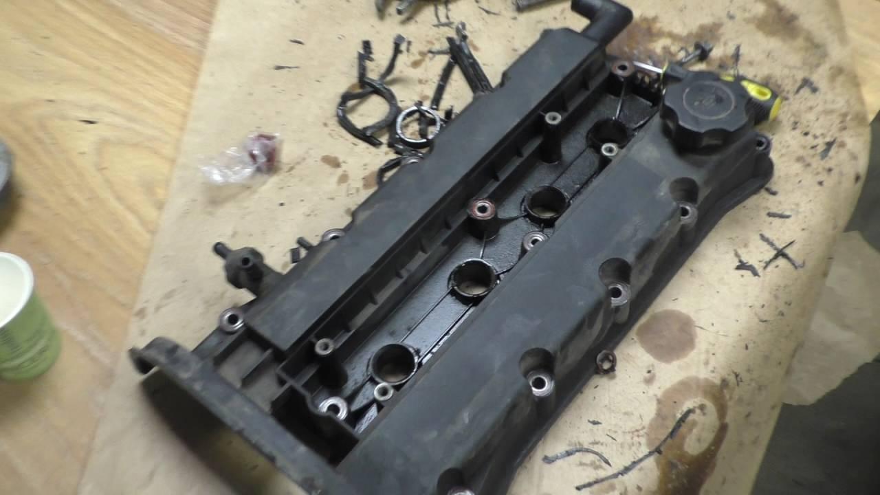 Течёт масло с под крышки распредвалов  Chevrolet Aveo 1.6 .