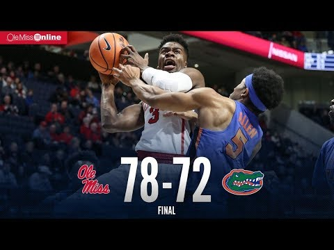 HIGHLIGHTS | Ole Miss defeats Florida 78 - 72 (1/13/18) #WAOM #FinsUpRebels