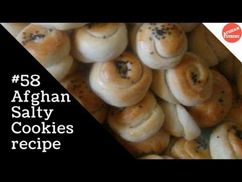 Kulche Shor  Kolcha Shor  Afghan Salty Cookies 'Afghan Cuisine' reuploaded