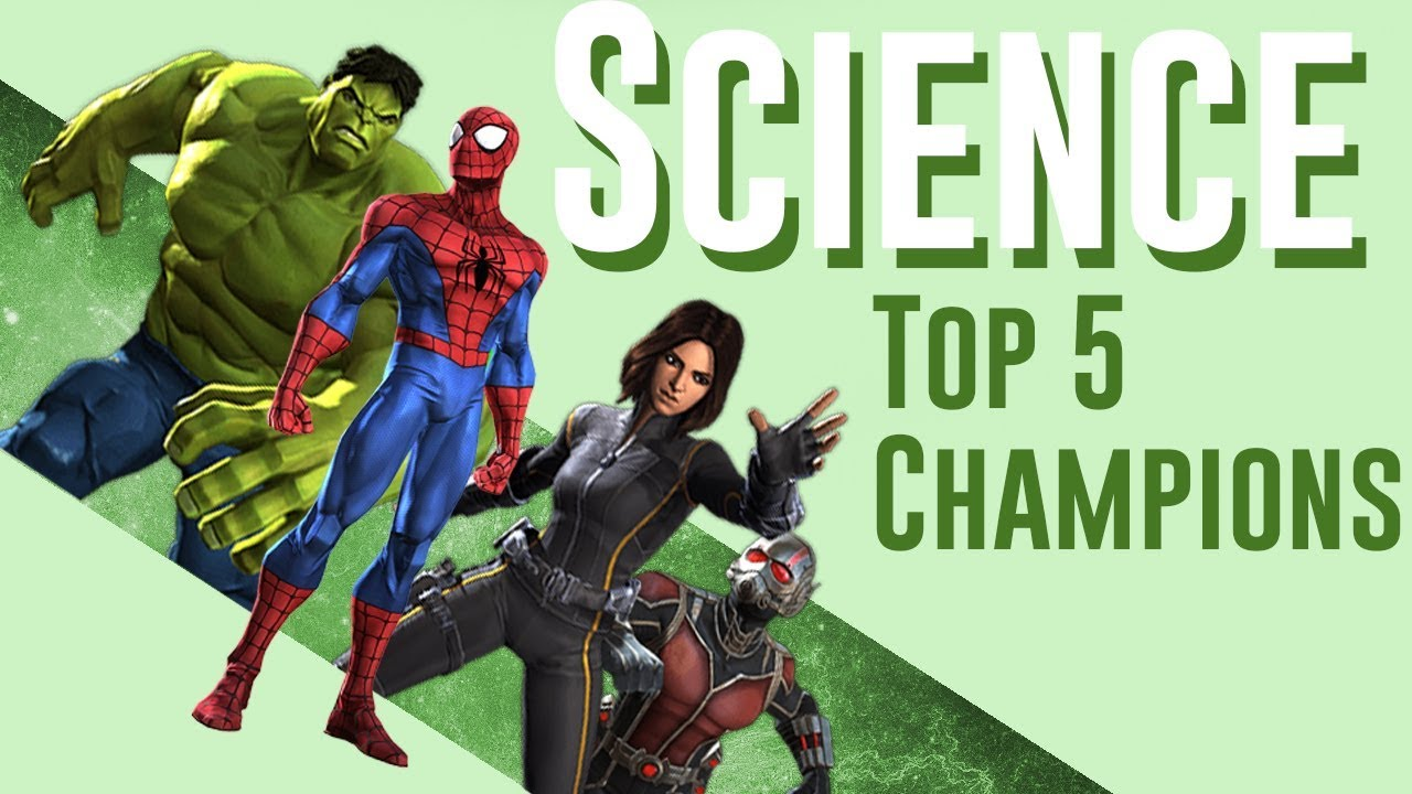 Mcoc Best Science Champs 2020 Top 5 Science Champions (2017) | Marvel Contest of Champions   YouTube