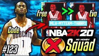 NO MONEY SPENT SQUAD!! #123 | WE GOT A FREE DIAMOND EVO CARD IN A LOCKER CODE In NBA 2K20 MyTEAM!