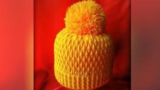 Как связать шапку крючком. Crochet hat with subtitles