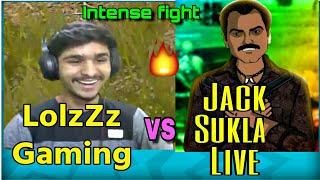 LolzZz Gaming VS Jack Sukla Live Fight near Pochinki. #intensefight #youtubersfight #pubgmobile