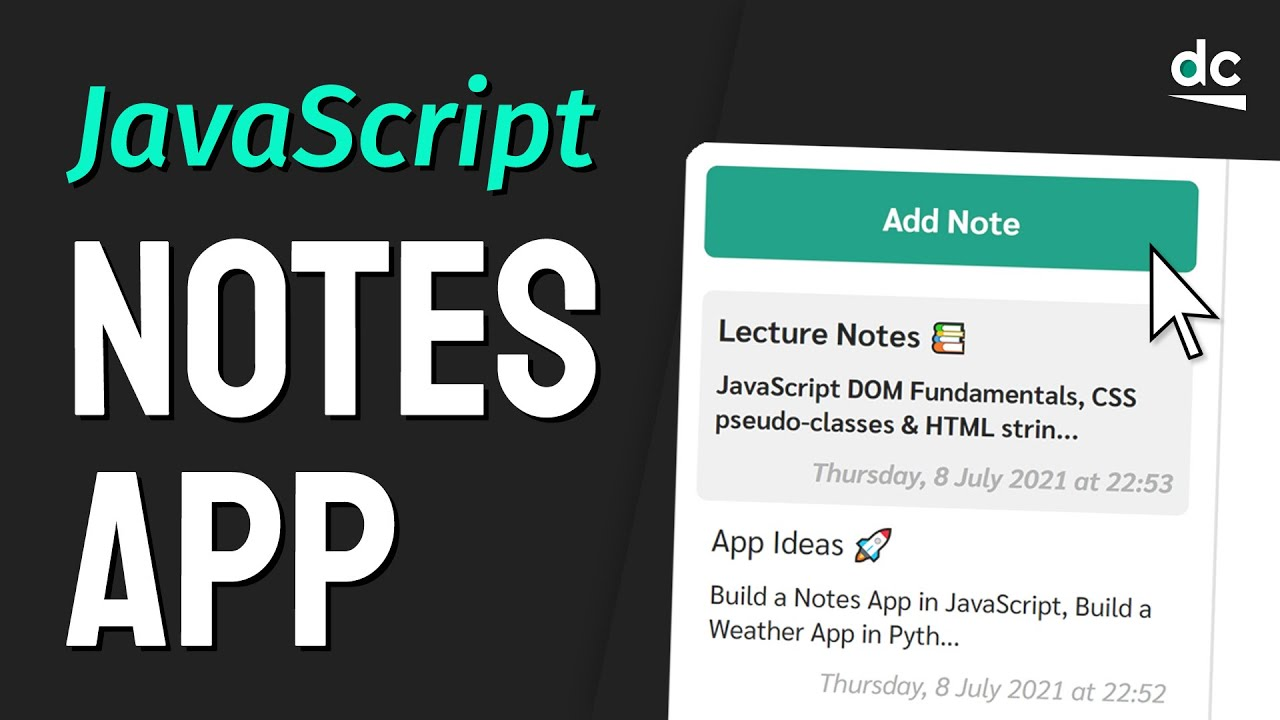 Build a Notes App with JavaScript & Local Storage (No Frameworks)