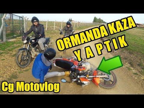 YENİ MOTORUMLA ORMANA GİRDİM! ÇAMURDA KAZA!! #CgMotovlog #1