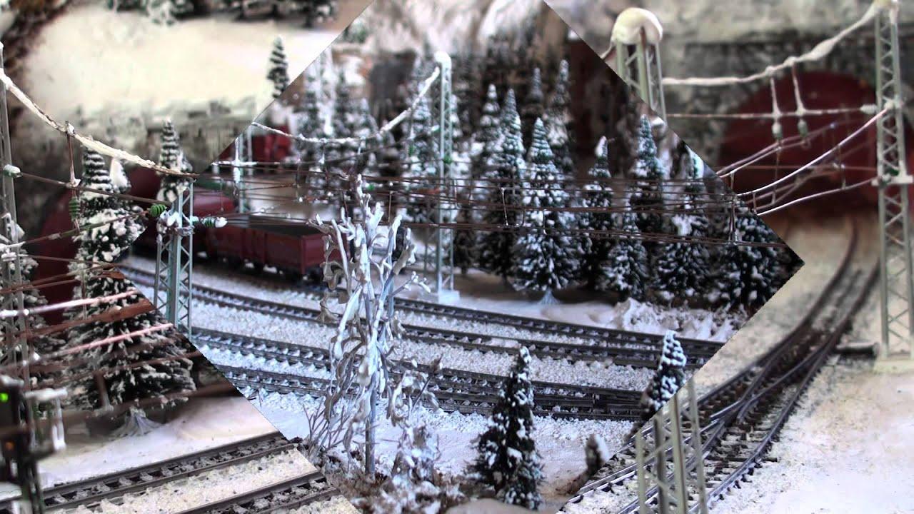 Märklin Modelleisenbahn Anlage mit Sound : Weihnachten = Winter ...