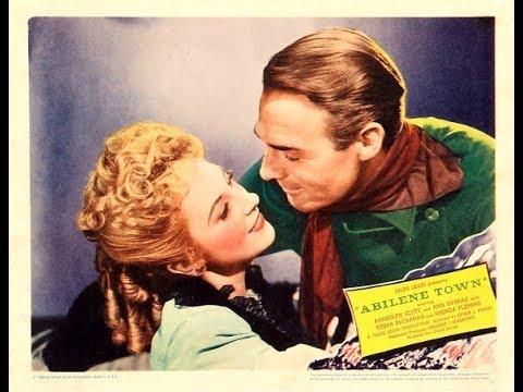 Abilene Town Randolph Scott complete western movie full length