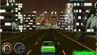 Бесплатные игры онлайн  Игра Ночные 3Д гонки, игры для детей