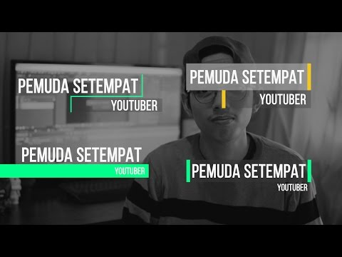 After Effect   Tutorial - Cara Membuat Lower Third (Bahasa Indonesia)