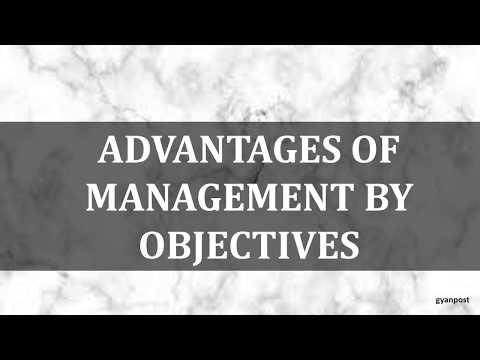 ADVANTAGES AND DISADVANTAGES OF MANAGEMENT BY OBJECTIVES