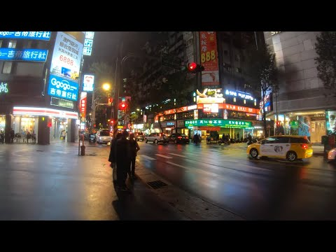 ⁴ᴷ⁶⁰ Walking Red Light District of Taipei, Taiwan (Linsen North Road)   林森北路 (December 30, 2019)