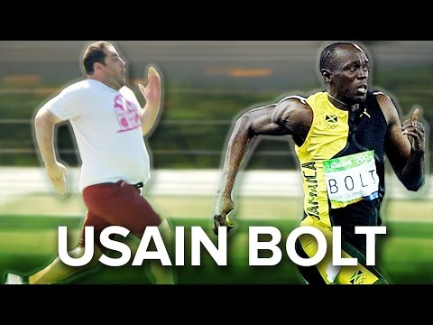 Thumbnail: Regular People Try To Beat The Fastest Man In The World
