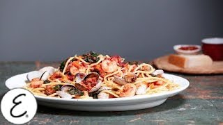 Emeril's Shrimp, Clams, Kale And Pasta - Emeril Lagasse