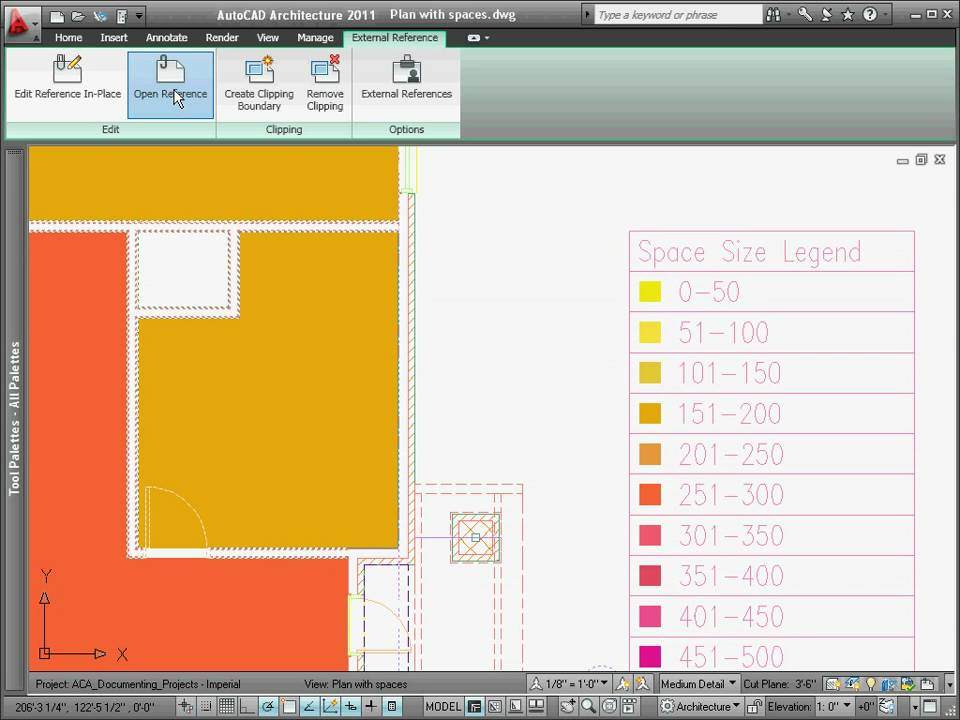 Creating a Color Filled Plan  AutoCAD Architecture 2011
