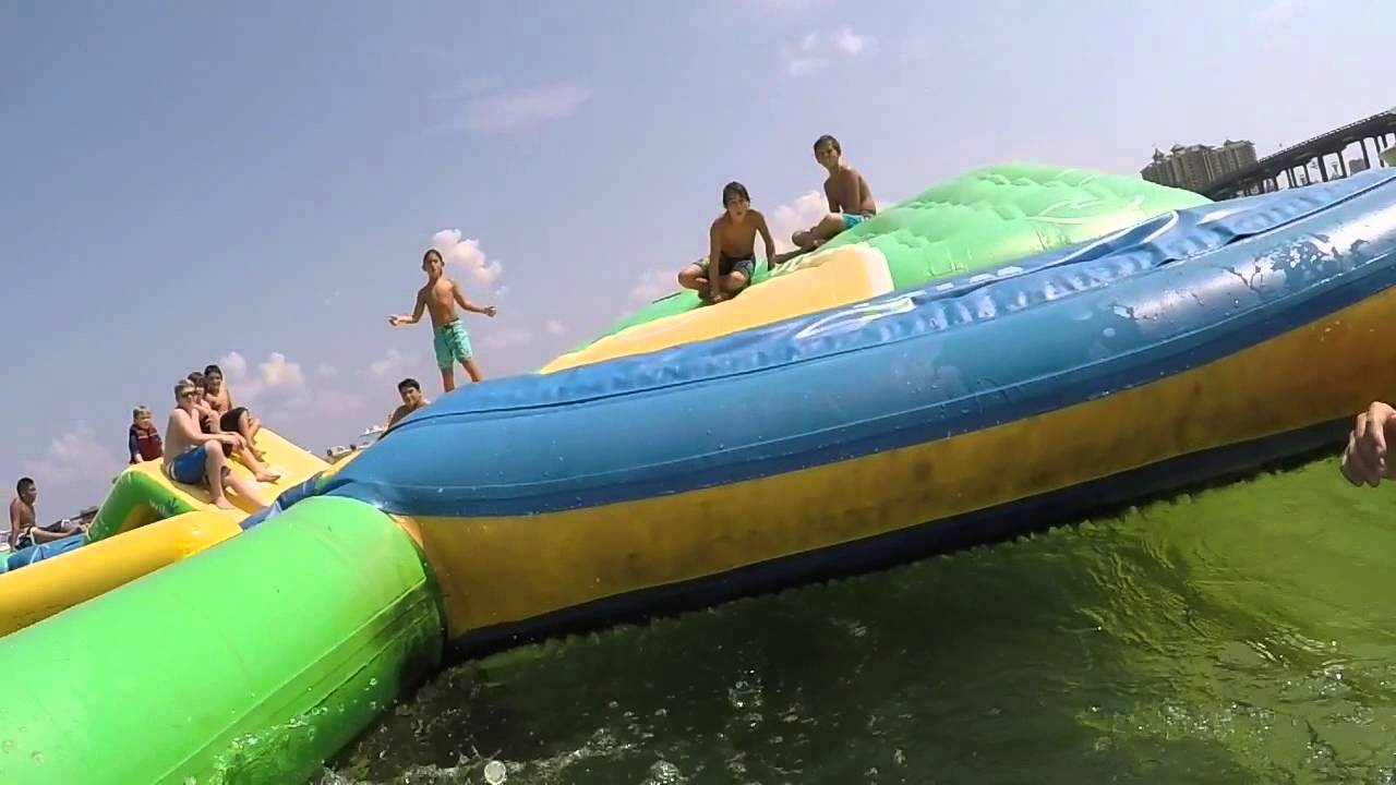 Crab Island Obstacle Course - YouTube