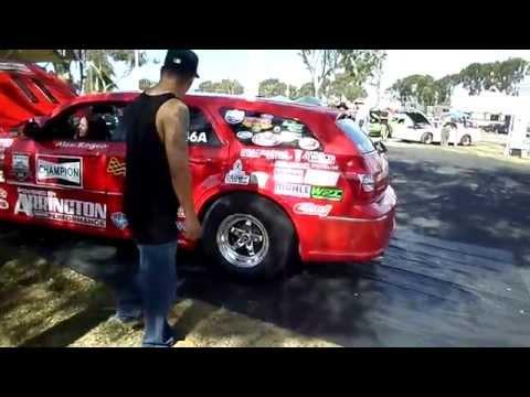 dodge magnum srt drag race car youtube