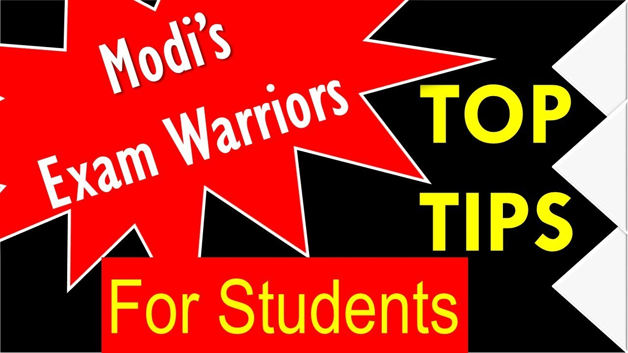 Exam Warriors- Top Tips from Modi's Book for students ...