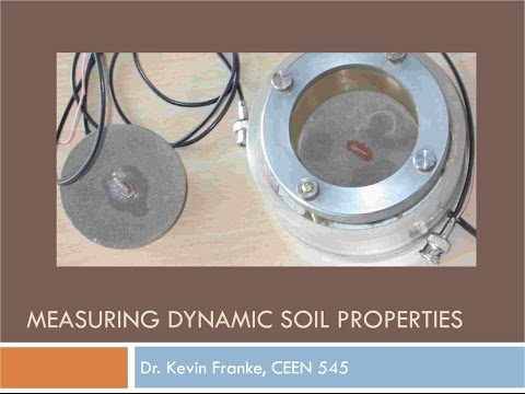CEEN 545 - Lecture 18 - Dynamic Soil Properties (Part I)
