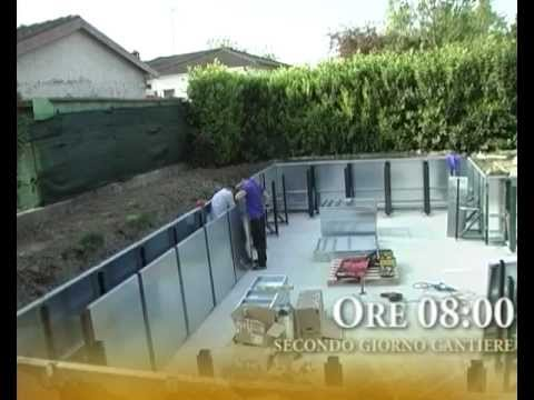 Video montaggio struttura piscina laghetto bluespring for Piscines laghetto