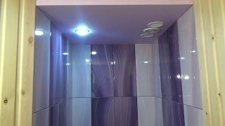 Керамическая плитка в душевой с трапом. Cауна. Hammerflex PLR 900. Put the tiles in the shower room.