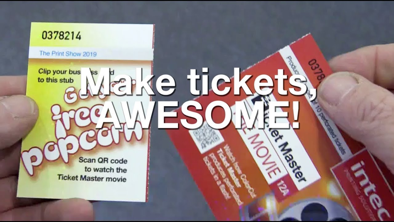 ColorCut TM480 Ticket Master cuts & perforates events