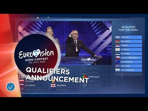 The exciting qualifiers announcement of the first Semi-Final - Eurovision 2019