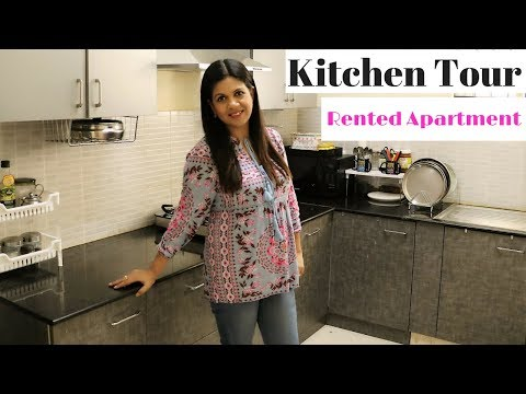 Complete Kitchen Tour | Rented Apartment Kitchen| Utensils Organization