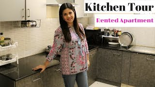 Complete Kitchen Tour | Rented Apartment Kitchen| Utensils Organization