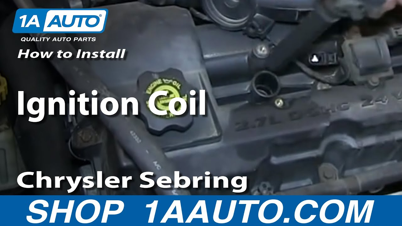 How to Replace Ignition Coil 0106 Chrysler Sebring 27L  YouTube