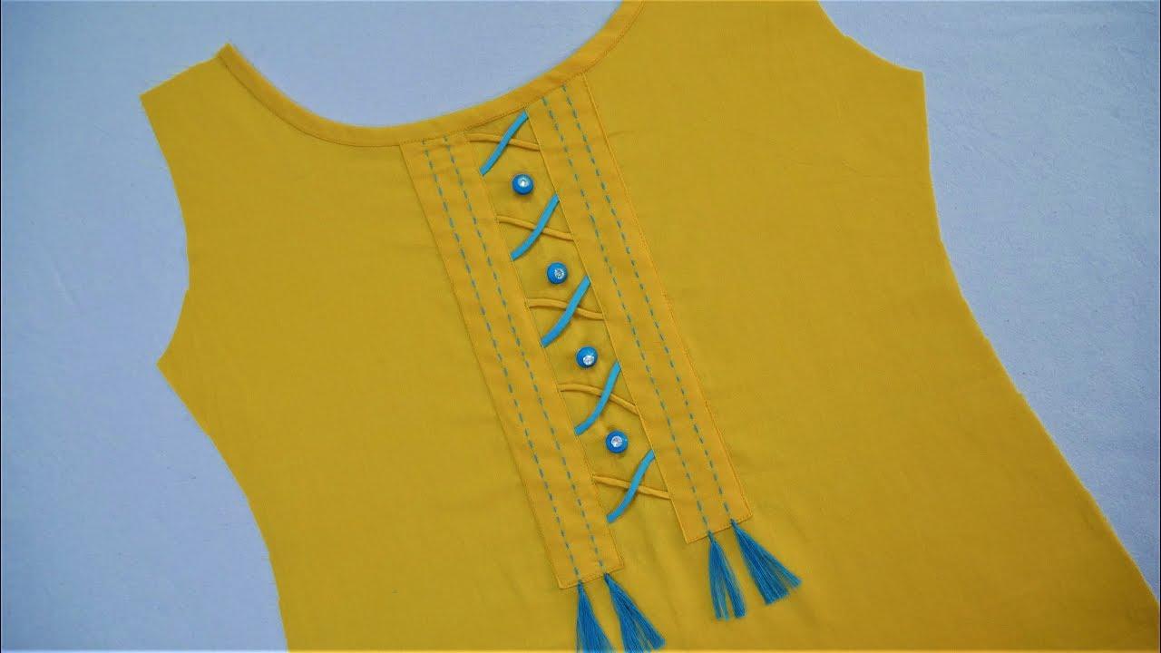 Latest Stylish Neck Design (Easy Way) Cutting And Stitching - YouTube 835469925