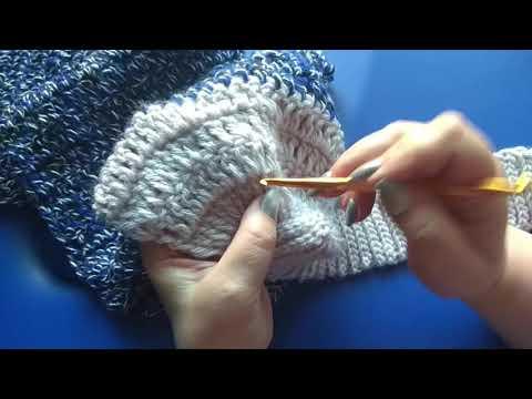 Схемы оригинальный шарф крючком