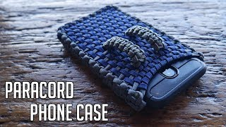 Making A Paracord Cell Phone Case | DIY Cell Phone Holster Tutorial