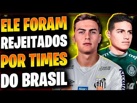 GRANDES JOGADORES DE FUTEBOL REJEITADOS POR TIMES BRASILEIROS