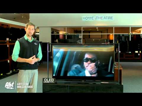 Samsung KN55S9 First Look - Largest Curved OLED TV At Abt