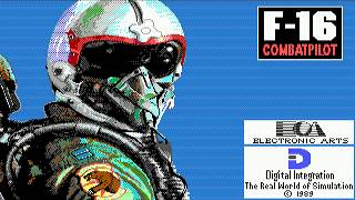 "F-16 Combat Pilot (PC/DOS) '1989 Digital Integration/EA ""Tribute"""