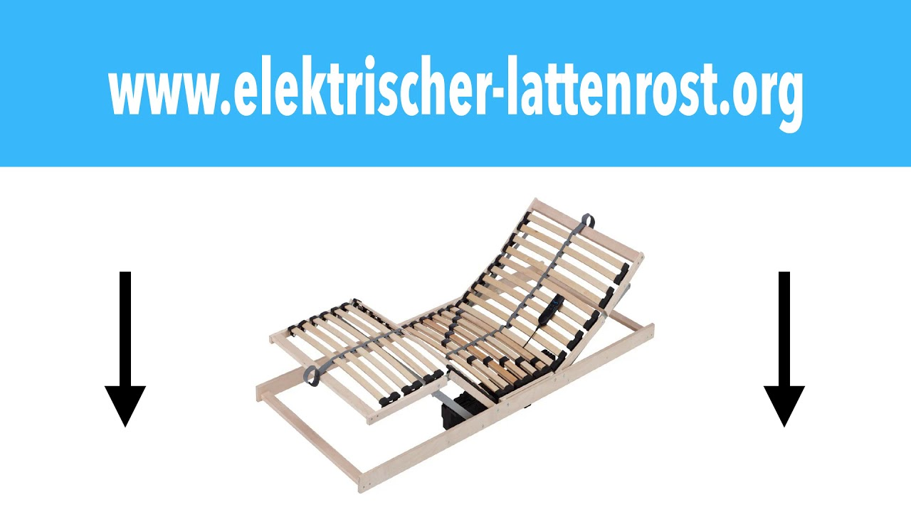 elektrischer lattenrost 140x200 youtube. Black Bedroom Furniture Sets. Home Design Ideas