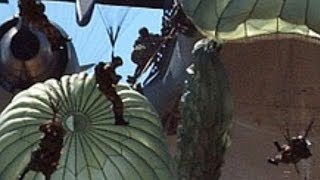 STUNNING FOOTAGE of a mass PARACHUTE DROP! United States MILITARY PRECISION!