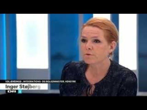 Integrationsminister Inger Støjberg og tin Krasnik Deadline
