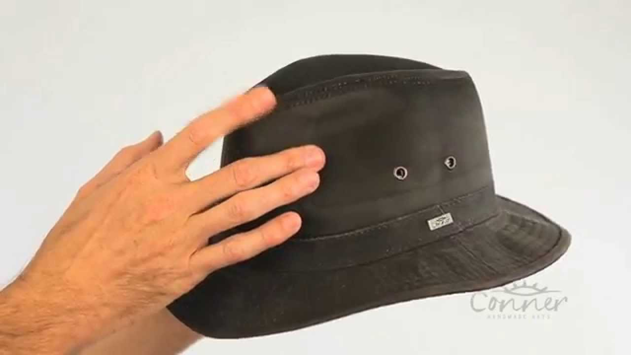 Indy Jones Men s water resistant cotton hat SKU  Y1085 - YouTube be21a2fedd4